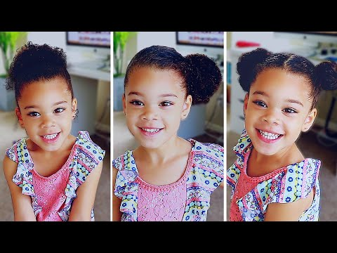 6 Hairstyles For Curly Mixed Hair Easy Toddler Curly Hair