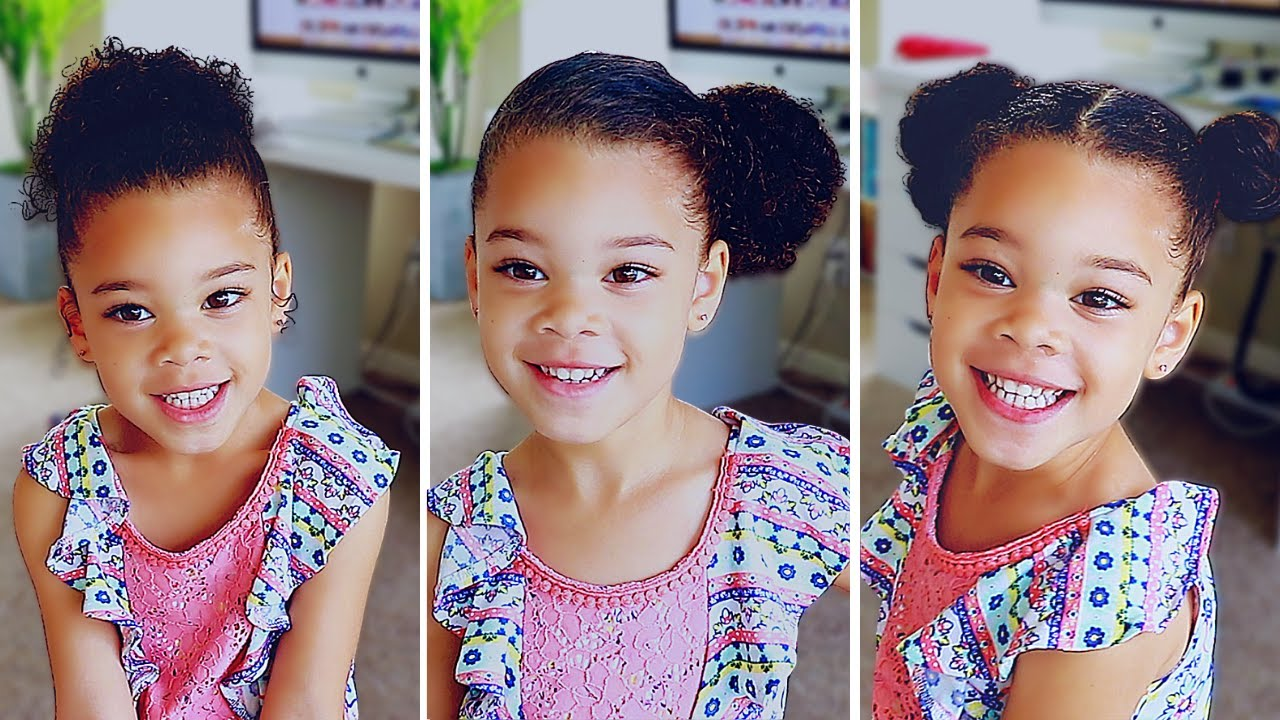 6 hairstyles for curly mixed hair | easy toddler curly hair tutorial