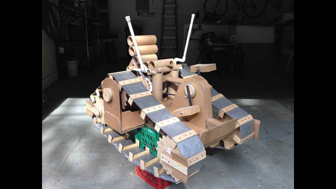 Cardboard Tank Human Powered Cardboard Vehicle Hpcv
