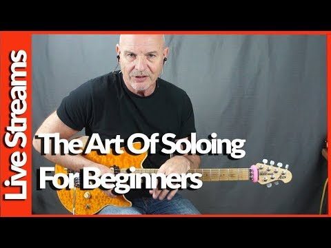 Geoff Sinker - Live - Discussing Soloing For Beginners