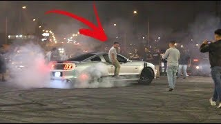 HE DESTROYED HIS RIMS! Burnout Out Till The Last Thread..