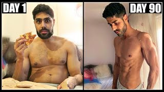 INSANE 90 DAY BODY TRANSFORMATION - FAT TO SHREDDED