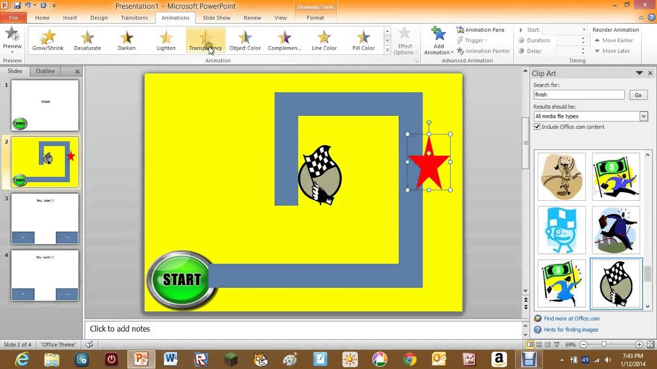 How to make a maze game on PowerPoint 2010 - YouTube