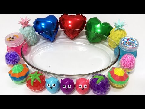 Mixing Random Things Into Clear Slime | Relaxing Slime with Balloons ! Tep Slime