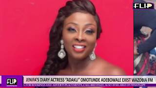 AMID TEARS JENIFAS DIARY ACTRESS ADAKU OMOTUNDE ADEBOWALE EXITS WAZOBIA FM