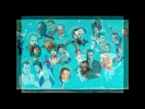 Gilbert E. Young's | THE WALL |  a mural of history | at the Carter G. Woodson School in Winston-Salem NC