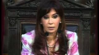Apertura de sesiones legislativas 2009. Discurso de la Presidenta Cristina Fernández