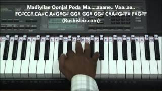 Inji Iduppazhagi Piano Tutorials - Devar Magan