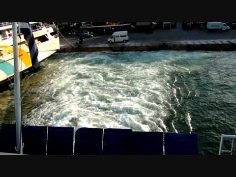 Αναχωρηση απο Πειραια για Αιγινα με το Νεφελη 4-5-2012