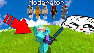 TESTING MY MODERATORS & HACKING ON MY SERVER (Minecraft Trolling)