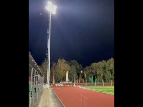 На стадионе в Марксе протестировали новое освещение