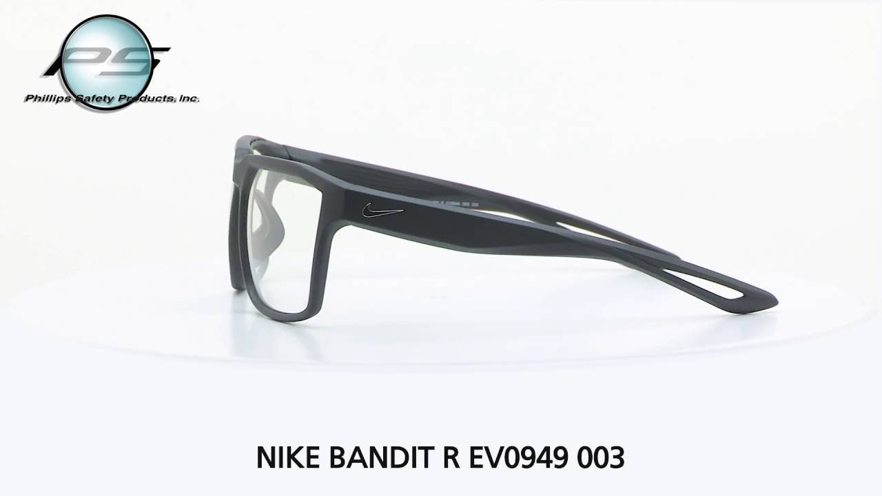 e450e7d16cec Prescription Safety Eyewear NIKE BANDIT R EV0949 003 - YouTube