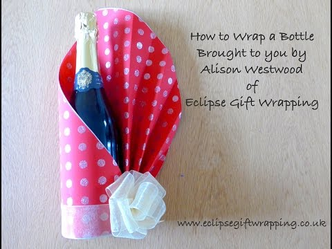 How to gift wrap a bottle of wine.