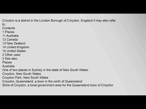 Croydon (disambiguation)