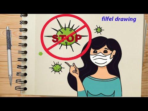 Coronavirus Images Pencil Drawing