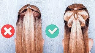 🦋Легкие Прически в Школу на Каждый День с Распущенными Волосами🦋БАБОЧКА из волос🦋Half Up Hairstyles