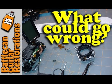 JVC Everio flat flex cable repair | RATTLECAN GUITAR RESTORATIONS by James O'Rear