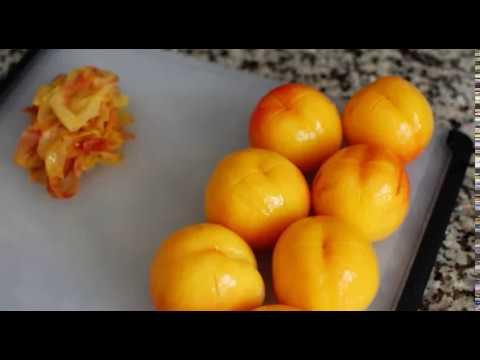 Как снять кожуру с персика