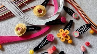 decorating baby clips/hair clips/with quilling paper