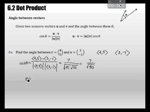 Unit 7 - 6.2 Dot Product
