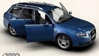 3D Model of Audi A4 Avant 2005 Review