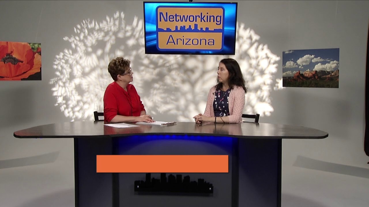 Viviane Chauvet visits Carol Blonder on Networking Arizona TV show 2