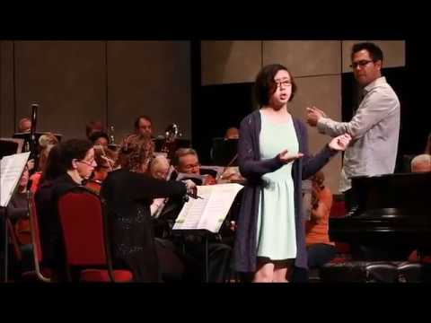 Tea Renee rehearsing LIVE with the Wenatchee Valley Symphony 2016