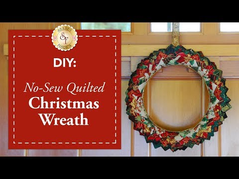 DIY No-Sew Quilted Christmas Wreath | a Shabby Fabrics DIY Craft Tutorial