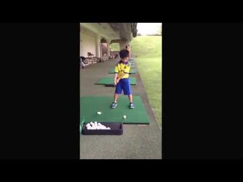 Dylan Pang golf swing at Singapore Island Country Club