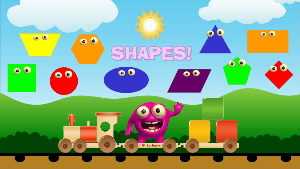 Basic Shapes On The Learning Train