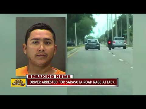 Deputies arrest driver who allegedly rammed motorcyclist off road in Sarasota road rage incident