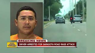 Deputies arrest driver who allegedly rammed motorcyclist off road in Sarasota road rage incident