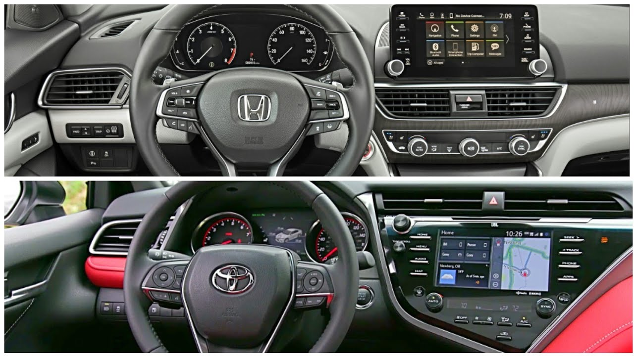 2019 Honda Accord Interior Vs Toyota Camry