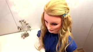 Прическа коса в школу на 1 сентября  Причёска из цветного канекалона тренд. Прически легкие локоны.