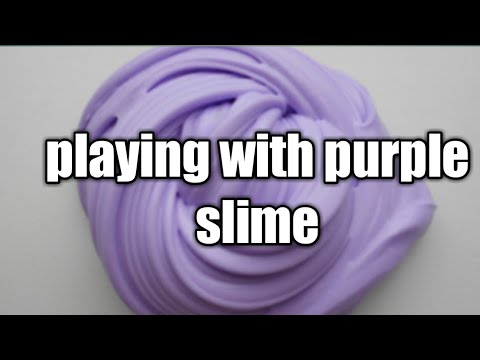 Playing With Purple Slime
