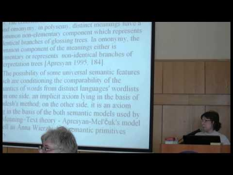 Comparative-Historical Linguistics of the 21st Century: Issues and Perspectives (2013). Day 3