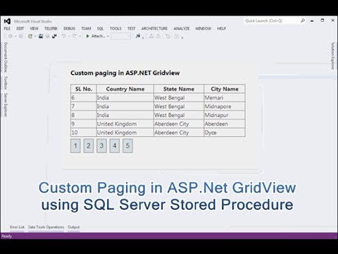 Implement Custom Paging In ASP.Net GridView Using SQL Server Stored Procedure