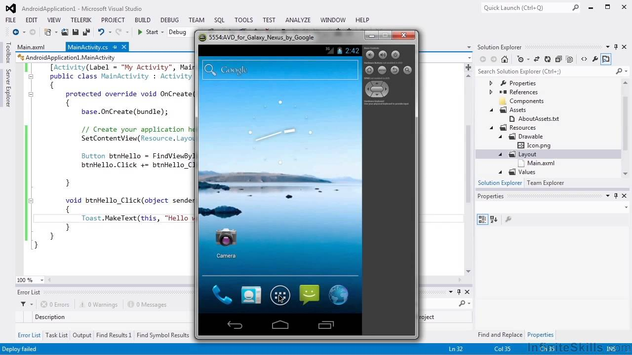 Android App Creation with C# Tutorial | Deploying To A Device