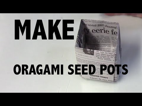 How To Make DIY Origami Seed Pots with Newspaper