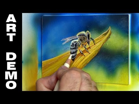 Acrylic and Coloured Pencil Miniature Painting Demo