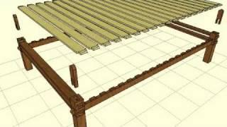 Keyframe Animation - Slat Platform Bedframe