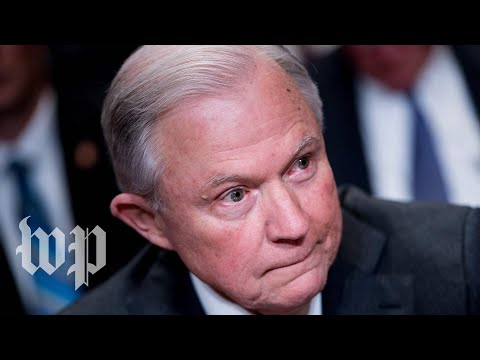 Attorney General Jeff Sessions makes a statement