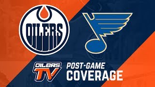 LIVE | Oilers Post-Game Interviews at St. Louis