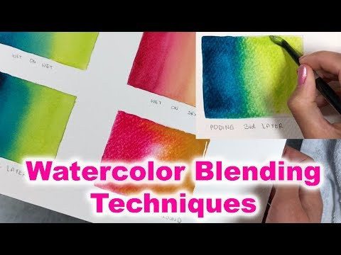 How to blend Watercolors - Tips