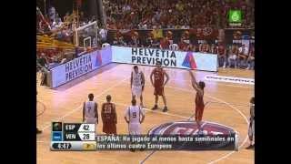 Venezuela vs España. Basketball. Juego de Preparación. 08/08/2007