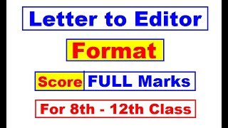 Editor Letter Class 12 3gp Mp4 Hd Video Download