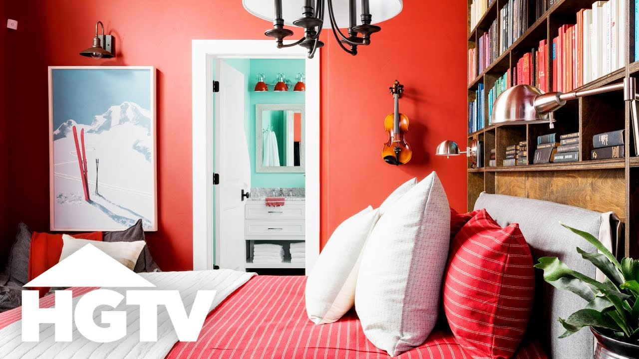 Hgtv Dream Home 2019 Red Guest Bedroom Tour Youtube