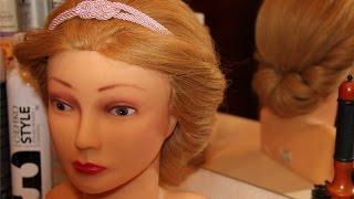 Греческая причёска с повязкой на средние волосы(Простая греческая причёска с повязкой за 5 минут на средние волосы пошагово. ----------------------------------------------------..., 2015-04-09T04:10:37.000Z)