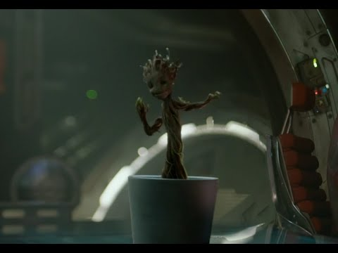 Guardians of the Galaxy Dancing Groot Clip