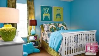 видео Дизайн Детской Комнаты в Зеленом Цвете Для Мальчика Или Для Девочки, Сочетание с Оранжевыми и Голубыми Оттенками
